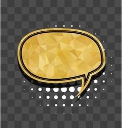 Oval gold sparkle comic text bubble vector image