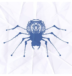 Spider blot on crumpled paper vector image vector image