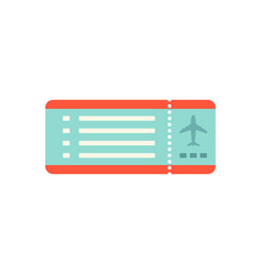 airline ticket isolated on white flat style vector image