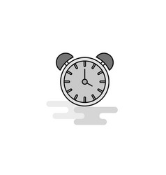 alarm clock web icon flat line filled gray icon vector image