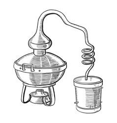 Alcohol distillation process vector