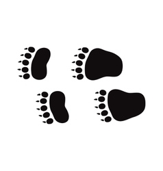 Animal foot prints and tracks isolated steps vector