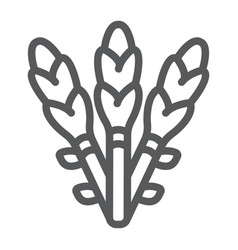 Asparagus line icon vegetable and organic vector