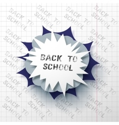 Back to school poster with letters made from vector image
