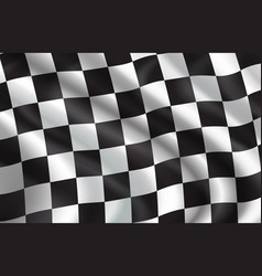Background of checkered flag pattern vector