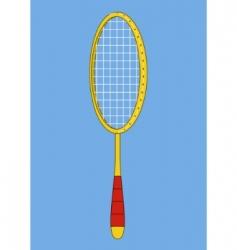 Badminton racket vector
