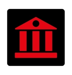 Bank flat intensive red and black colors rounded vector