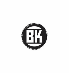 Bk logo initial letter monogram with abstract vector