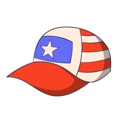 Cap icon cartoon style vector image