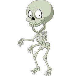 cartoon funny human skeleton vector image