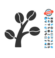 Coffee tree icon with free bonus vector