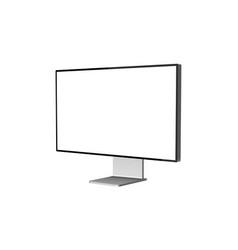 computer monitor mockup isolated vector image