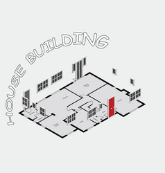 concept house building vector image
