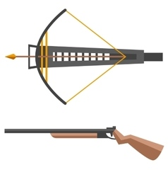 Crossbow gun vector