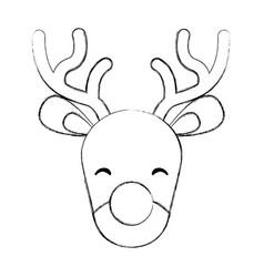cute christmas reindeer vector image