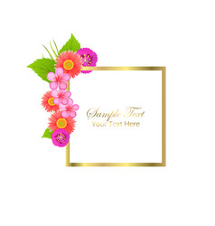 cute congratulation postcard with spring flowers vector image