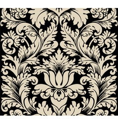damask semless silk vector image