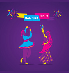 Dandiya night poster design vector