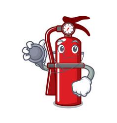 Doctor fire extinguisher character cartoon vector