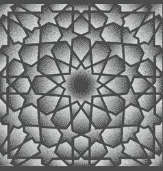 Dot patternislamic ornament persian vector