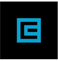 E logo abstract square vector