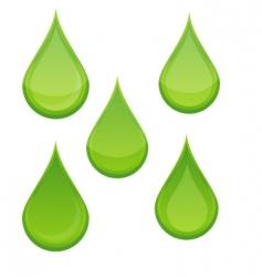 Eco Drops vector image vector image