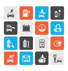 Ecology and electric car icons vector