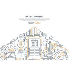 Entertainment - modern line design style web vector