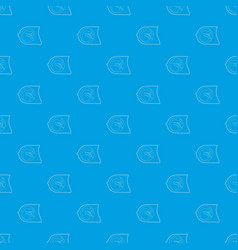 fetus pattern seamless blue vector image