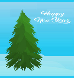 fir tree happy new year merry christmas concept vector image