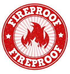 Fireproof sign or stamp vector