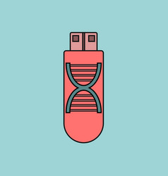 Flat icon design collection dna memory vector