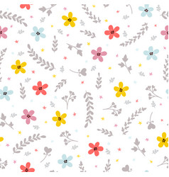 floral stylish background cute seamless pattern vector image