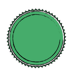 green label badge decoration blank emblem vector image