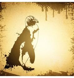 Grunge Penguin vector image