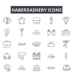 haberdashery line icons for web and mobile design vector image