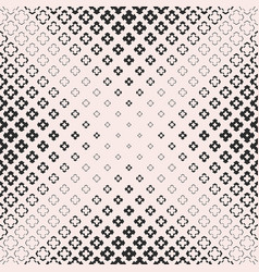 halftone texture monochrome seamless cross pattern vector image