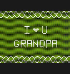 happy grandparents day greeting card for vector image