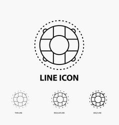Help life lifebuoy lifesaver preserver icon in vector