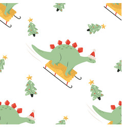 holiday seamless pattern with cute vector image