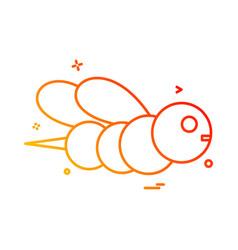 honey bee icon design vector image