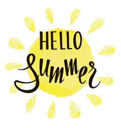 inscription hello summer on background the vector image
