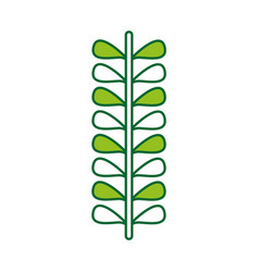 leafs plant wreath icon vector image