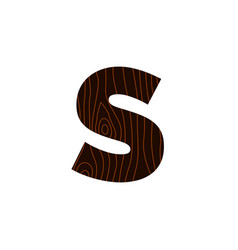 logo letter s wood texture vector image