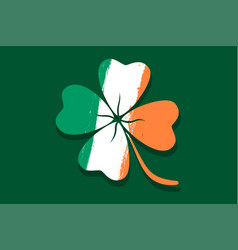 lucky clover like irish flag vector image