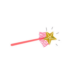 magic wand witchcraft attribute vector image