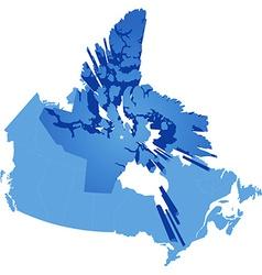 Map of Canada - Nunavut Territory vector