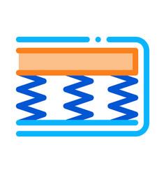 Mattress springs foam icon outline vector