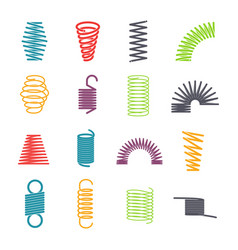metal spring set vector image