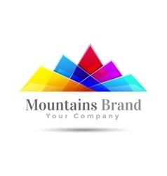 Mountain Color Logo Creative colorful abstract vector